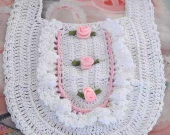 Crochet Ruffles Bib
