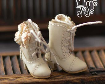 In Short!! Shabby Chic Boots for Blythe/ Azone/ Licca/Momoko Blythe Doll Shoes B43