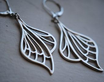 Art Nouveau Earrings, Art Nouveau Jewelry, Dragonfly Earrings, Butterfly Wings, LIBELLULE EARRINGS.
