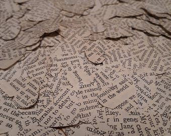 750 Book page heart confetti Emma by Jane Austen - party table scatter confetti - wedding table decoration