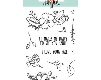 Neat and Tangled- FRIENDLY FLORALS- Clear Stamp Set
