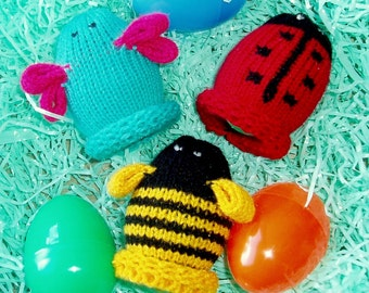 Bug Egglets (Set of 3 - 1 Butterfly, 1 Bumble Bee, and 1 Ladybug.)  Want a different grouping - just contact us.
