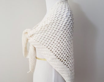 Beach Pareo or Shawl Crochet Pattern PDF