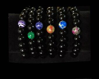 Self Balance Gemstone Bead Bracelets Unisex Carnelian Opalite Opal Red Jasper Teal Agate Zen Positivity Healing Revitalizing Strength Beauty
