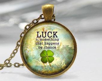 Four Leaf Clover Pendant, Lucky Pendant, St Patricks Day Necklace, Clover Jewelry, Clover Pendant, Bronze, Silver, Good Luck Pendant 236
