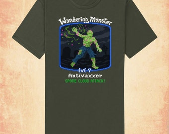 Antivaxx zombie adult men's/unisex t-shirt inspired by politics and gaming