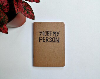 You're my person gift, Grey's Anatomy notebook Small gifts for best friend Meredith and Cristina BFF gifts Greys Anatomy, Girlfriend gift