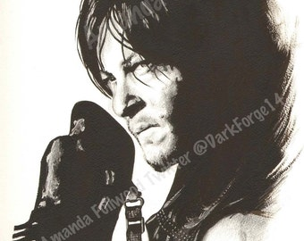 Daryl Dixon POSTER Print 12 x 16 inches