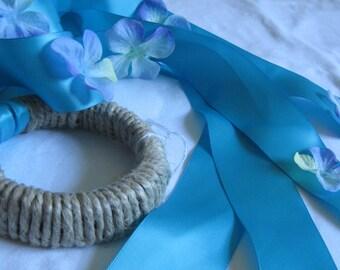 Sea Blue Ribbon Streamer