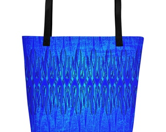 Eternal Blue Flame Beach Bag
