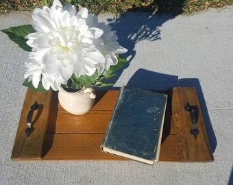 Golden Stain Pallet Serving Tray