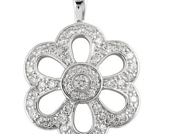 14kt Gold Diamond Fashion Pendant  P2864