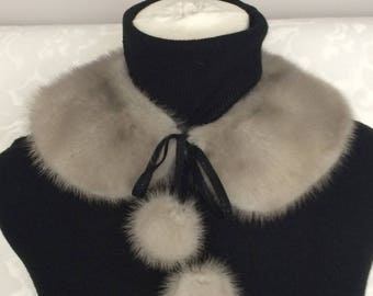 Collar with real mink fur