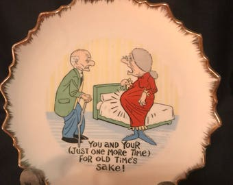Vintage Plate Collectible Funny Saying Plate Cartoon