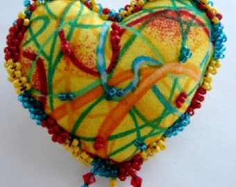 Fiesta Heart Pin- (Similar Heart Made to Order by Request)