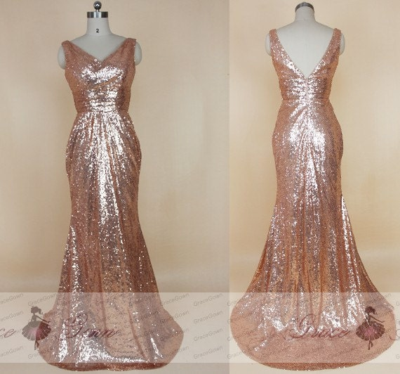 Gold Sparkle Prom Dresses