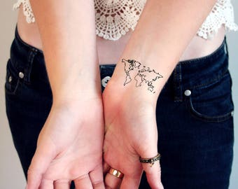 Have fun be colorful with our temporary tattoos by tattoorary world map temporary tattoos world tattoo small temporary tattoo festival tattoo bohemian gumiabroncs Image collections