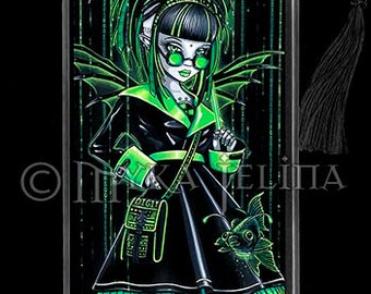 Cybergoth Android Fairy Radioactive Green Fish Digit Bookmark