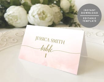 Folded Place Cards Etsy - Folded place cards template