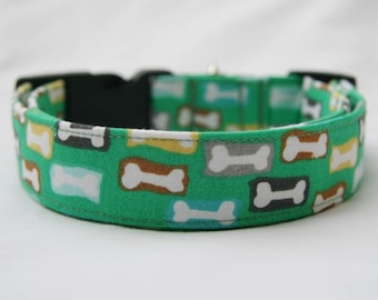 Dog Bones-Adjustable Dog-Pet Collar-Pet Accessories-Supplies Dog Collar- Small to Large Breed Dog-5/8 to 2 inch wide