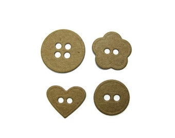 Paper Button  Die Cuts set of 40