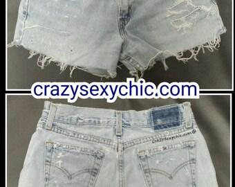 Cutoffs Distressed Shorts size 3 jr Festival tumblr