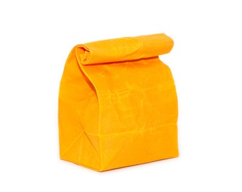 Lunch Bag in Sunshine // Waxed Canvas Lunch Bag // Lunch Bags // Canvas Lunch Bag