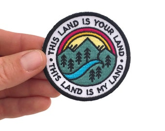This Land Is Your Land - Iron on Patch