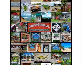 Glen Arbor, Michigan and Sleeping Bear Dunes National Lakeshore signed 16 x 20 Print