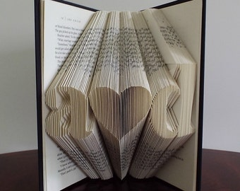 1st Wedding Anniversary - Folded Book Art - 1st Anniversary Gift - Paper Anniversary - Gift for Him - Gift for Her - One Year Anniversary