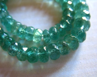 EMERALD Beads Rondelles / 3-3.5 mm, 5-100  pc, Luxe AAA / ZAMBIAN emeralds / undyed, may birthstone brides bridal holidays true 35