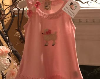 Little Girl Pink Poodle Sundress