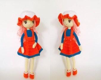 PDF doll amigurumi pattern - crochet doll pattern- Crochet fairy doll #021 INSTANT DOWNLOAD