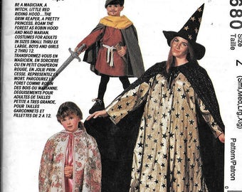 McCall's 6680 Mens & Ladies Robin Hood Grim Reaper Sewing Pattern Size Small, Medium, large and Xlarge