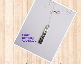 Infinity  Faith Necklace, Faith Charm Necklace,