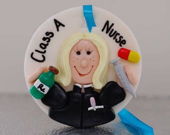 Personalised clay hanging decoration