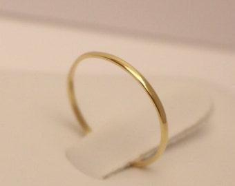 14K Gold Ring, 14k half round band ring, 14k thumb ring, 14k band ring, 14k midi ring, 14k skinny ring, 14k knuckle ring, solid gold ring
