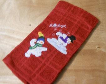 Snowman Christmas Towel