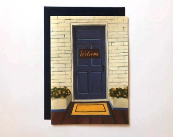 Housewarming Card - New Home Card - Housewarming Party Card- Welcome to the Neighborhood Greeting Card  - New House Cards - Moving Card