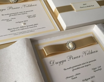 Boxed Wedding Invitations,  Box Wedding Invitations, Wedding Invitations boxes, Modern Wedding Invitations, Boxes Invitations, 25 PIECES