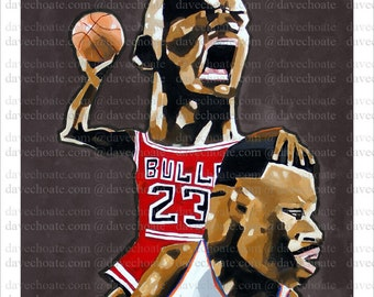 Chicago Bulls, Michael Jordan. Art Photo Print