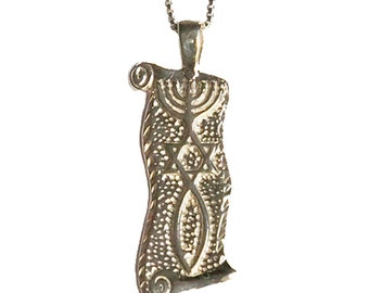 """Sterling Silver """"Grafted In"""" Messianic Seal pendant - pd010"""