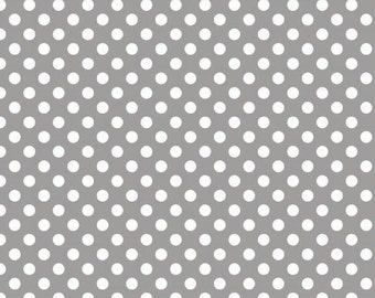 Riley Blake Designs, Small Dots in Gray (C350 40)