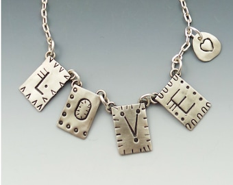 Love Necklace, Love Letters, Love Layering Necklace, RP0618