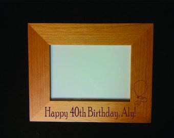 Engraved Custom Birthday Frame - 40th Birthday Frame - First Birthday Frame - 21st Birthday Frame - 30th Birthday Frame - 16th Birthday