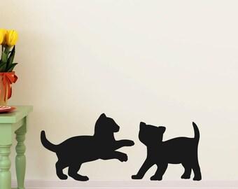 kitten wall art , decal , sticker