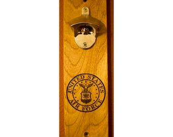 Wall mounted bottle opener - 'Air Force Logo'