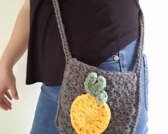 crochet pineapple cross body pouch purse