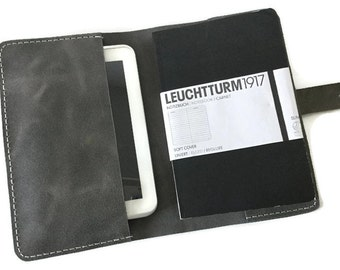 Distressed Leather Journal Cover, Leuchtturm 1917 Cover, Moleskine Cover, A5 Notebook Cover, Leather Portfolio, A5 Diary Cover