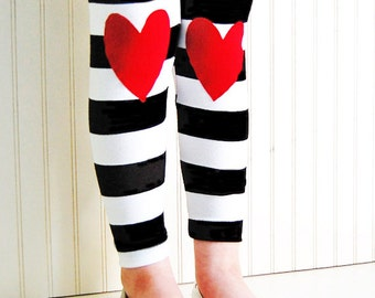 Heart Leggings. Girls Leggings. Baby Leggings. Kids Leggings. Hearts on Knees. Toddler Leggings. Kneepatch Leggings. Girls Heart Leggings.